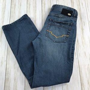 Buffalo David Button Driven Straight Leg Jeans 14